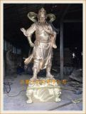武汉铜雕关公佛像生产厂家,关帝铜像供应商正圆工艺厂