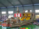 孩子們非常喜歡的新型遊樂設備 海盜船充氣城堡