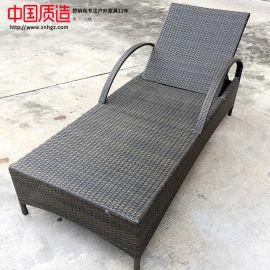 广州直供户外家具手工编藤舒适耐用躺椅