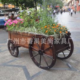 购物街道花车 绿化装饰花车