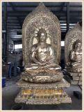 苍南正圆铜雕佛像厂家,铸铜三宝佛铸造生产厂家