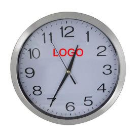 手表厂家定制   新品  不锈钢铝框静音挂钟