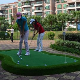 室内外成品便携式高尔夫果岭推杆练习器移动经济型练习垫