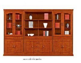 实木书柜 板式书柜 办公文件柜 五门带抽屉书柜 现代文件柜 简约书柜