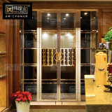玫瑰金红酒展示架陈列柜 不锈钢洋酒展示柜