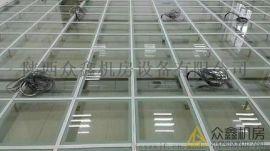 陕西众鑫机房玻璃防静电活动地板,现货销售质量保证