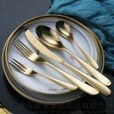 304不锈钢牛排刀叉勺套装 高档餐厅酒店刀叉勺