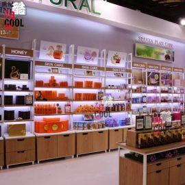 高檔美容院化妝品展示櫃製作 化妝品展櫃效果圖片大全