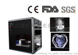 K9方体水晶激光内雕3D人像人像定制激光内雕机