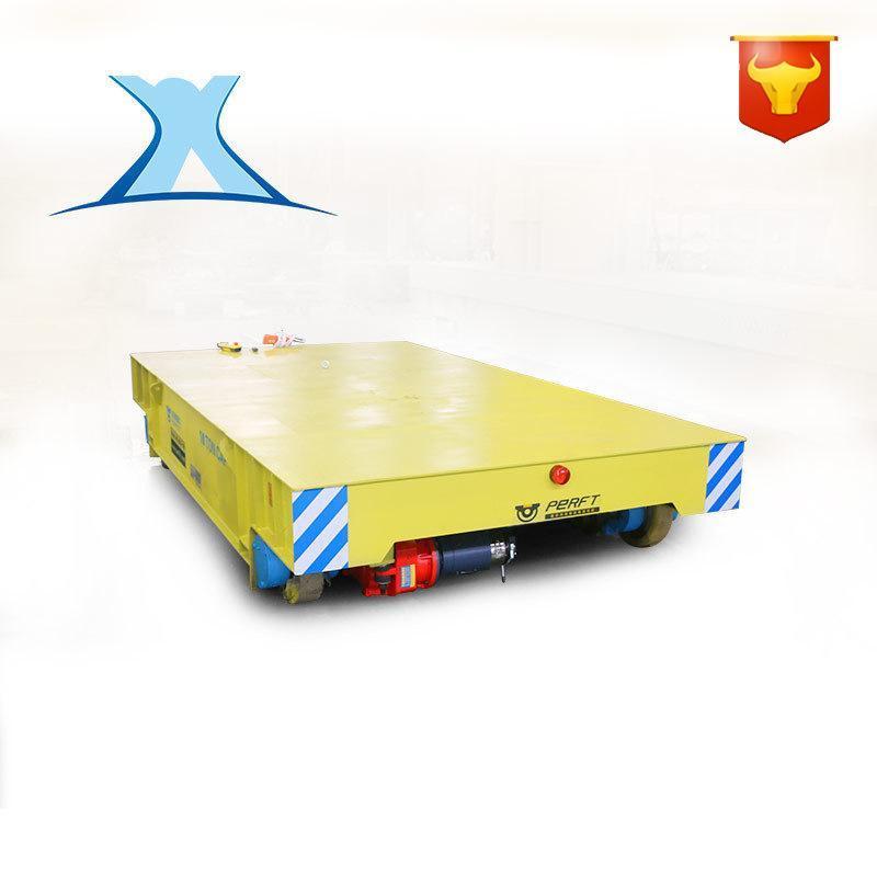 仓储货物装载电动平板车轨道电动平板车定制