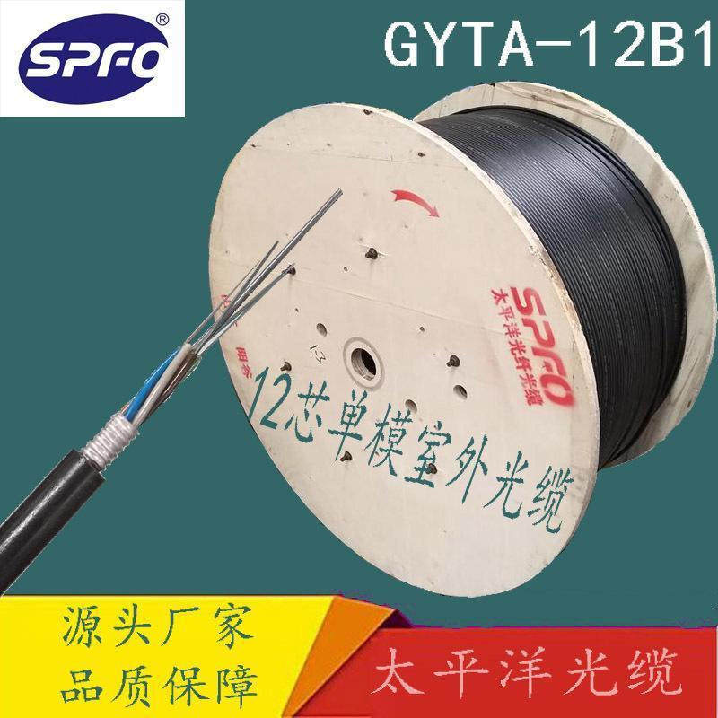 太平洋12芯光纜GYTA-12B1.3 廠家直銷 室外架空光纜 12芯光纖光纜
