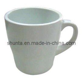 美耐皿磁白附耳杯(密胺/科学瓷/仿瓷杯)