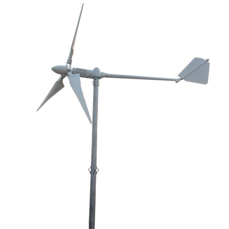 工厂用中小型风力发电机厂家直销3叶片5000W风力发电机小型