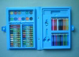 厂家供应64PCS文具套装  油画棒彩色铅笔粉饼  组合