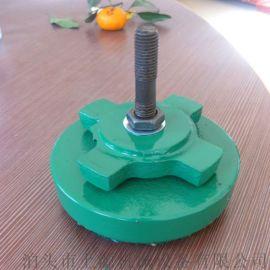 上源机械圆型橡胶垫顶杆垫铁数控机械垫脚冲床减震垫铁