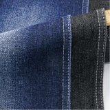 藍黑常規破洞斜紋牛仔布 10*7滌棉水洗牛仔面料 牛仔褲裙子外套布