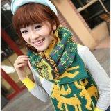 新款立体小鹿针织围巾 保暖针织毛线围巾 【龙爱针织】