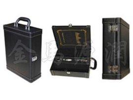 加宽黑色双支皮酒盒 (JM5056)