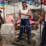 廠家尚雕坊JGL款H205CM模擬影視人物雕塑金剛狼玻璃鋼工藝品