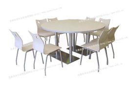大圆餐桌椅四川快餐店桌椅餐桌德阳快餐店餐台椅成都永和豆浆