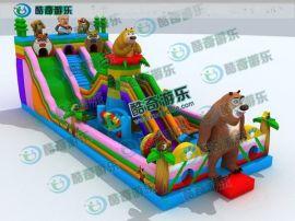 熊出没充气包,大型充气滑梯,儿童弹跳床