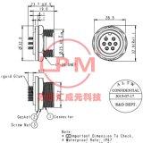苏州汇成元电子供Amphenol安费诺ADC-06PMMS-SC7001替代防水线束