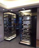供应酒店定做咖啡色红酒恒温柜 酒柜展示架 不锈钢酒柜定制