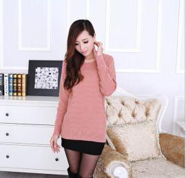 叶荣纺织 新款女款时尚套头女款羊绒衫 100%纯羊绒