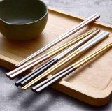 沙朵 供应304不锈钢筷子 方形防滑筷 高档送礼餐