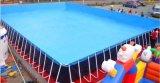 吉林支架游泳池廠家定做水上樂園多種款式充氣水滑梯
