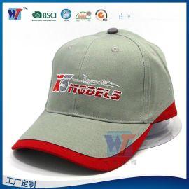 拼接棒球帽定做 字母刺绣logo鸭舌帽 夏季纯棉男女士遮阳帽
