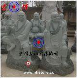 宏辉雕刻青石十八罗汉/石雕十八罗汉佛像