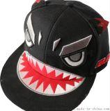 青島帽子廠家定製各式童帽、貼布繡花平板帽、時尚款式童帽GD-729