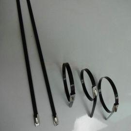 喷塑不锈钢扎带 图层不锈钢扎带