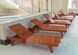 花园二期实木躺椅 木质沙滩椅