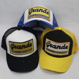 春夏新款网帽贴布立体绣货车网帽三个颜色