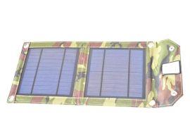 二片折叠式5W太阳能充电板充电包手机相机平板电脑太阳能充电器