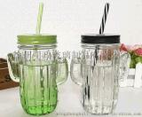 仙人掌玻璃杯 梅森杯 吸管蓋子