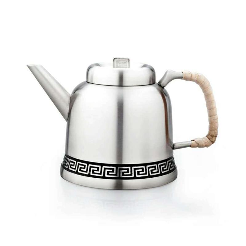泰國錫器 回紋茶具四杯 商務 友情 藝術收藏
