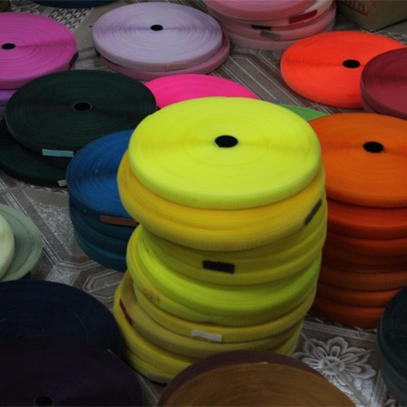 防护面罩 魔术贴 厂家供应 黑白彩色涤纶粘扣带