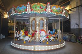 公园游乐设备广场儿童游乐设备转马旋转木啊