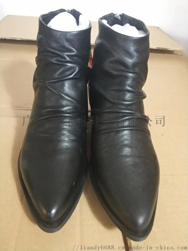 加工时装女靴 定做小坡跟短靴 定制真皮女鞋