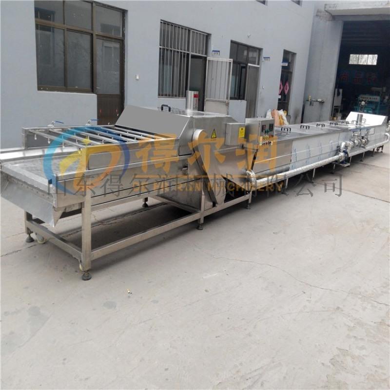 山東羊肉塊滷製生產線 肉類加工連續滷煮生產線設備