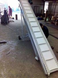 自动升降挡边输送机不锈钢防腐 橡胶带运输机齐齐哈尔