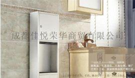 聚合联1858a不锈钢二合一擦手纸箱入墙式安装