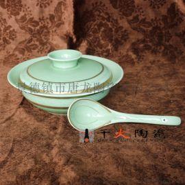 特色青釉餐具摆台供应青瓷餐具厂家定做