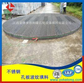 大直径(DN6000)250Y不锈钢孔板波纹填料