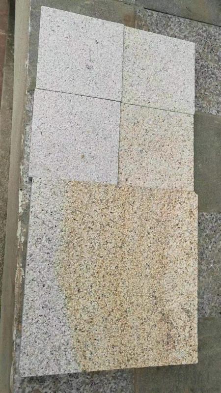 虾红天然花岗岩G681虾红荔枝面广东广场地铺