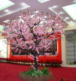 宜宾假桃树生产 泸州内江新年桃树 广安假桃花生产 达州假树生产 雅安仿真桃树