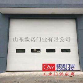 新疆工业滑升门 保温密封电动垂直提升门